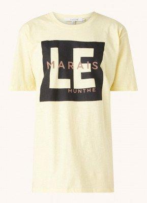 MUNTHE MUNTHE Sunrise T-shirt met logoprint