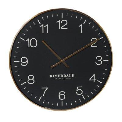 Riverdale NL Wandklok Camden zwart 75cm