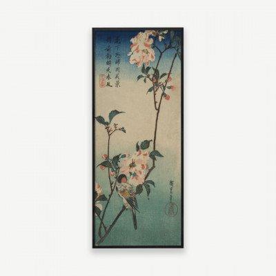 MADE.COM Vintage Blossom Bird, ingelijste print, 34x85cm