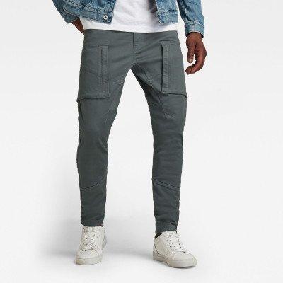 G-Star RAW Zip Pocket 3D Skinny Cargo Broek - Grijs - Heren