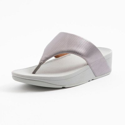 FitFlop FitFlop Olive Textured Glitz slippers zilver