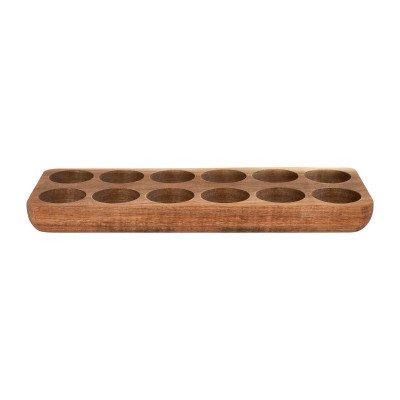 Xenos Eiertray hout - voor 12 eieren