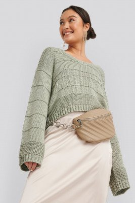 NA-KD Accessories NA-KD Accessories Quilted Fanny Pack - Beige
