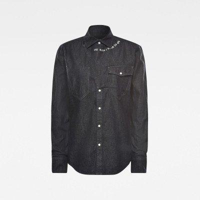 G-Star RAW E Western Tab Slim Shirt - Donkerblauw - Heren