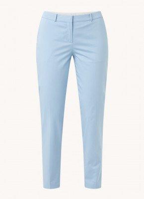 Boss BOSS Tiluna mid waist slim fit cropped pantalon met steekzakken