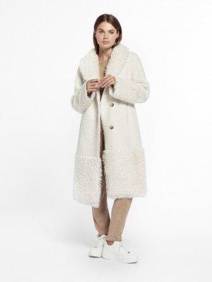 Beaumont Beaumont Lammy mix coat - Off White