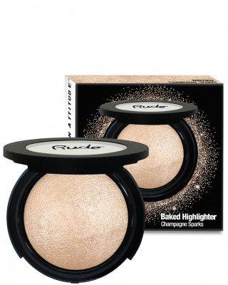 Rude Cosmetics Rude Cosmetics Baked Shimmer Champagne Sparks Rude Cosmetics - RUDE COSMETICS Highlighter