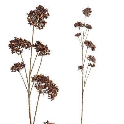 Firawonen.nl Twig plant brown metallic skimmia spray