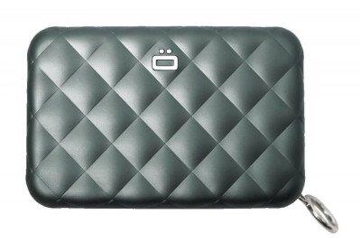 Ogon Designs Ogon Dames Creditcardhouder Quilted Zipper Platinum