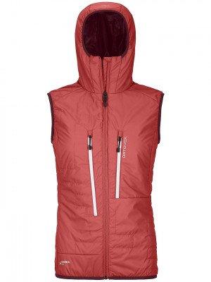 Ortovox Ortovox Swisswool Piz Boe Vest rood