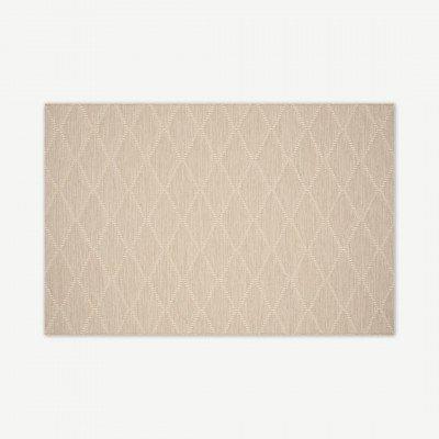 MADE.COM Vinonelo binnen/buiten vloerkleed, groot, 160 x 230 cm, licht taupe