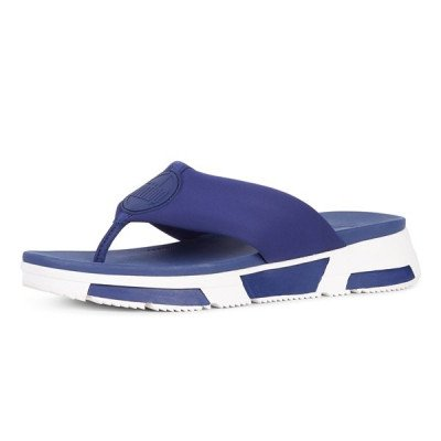 FitFlop FitFlop Sporty Logo Toe Thongs slippers blauw