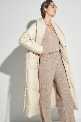 nu-in 100% Recycled Puffer Dressing Robe / XS/S / Beige