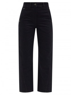 Matchesfashion Lemaire - Twisted Cropped Jeans - Womens - Black