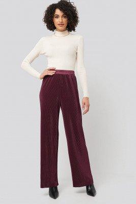 NA-KD NA-KD Wide Pleated Pants - Red