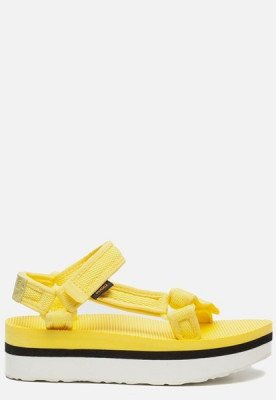 Teva Teva Flatform Universal sandalen geel