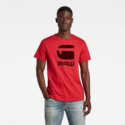 G-Star RAW Flock Hamburger Logo T-Shirt - Rood - Heren