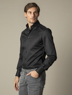 Cavallaro Napoli Cavallaro Napoli Heren Overhemd - NOS Black Overhemd - Zwart