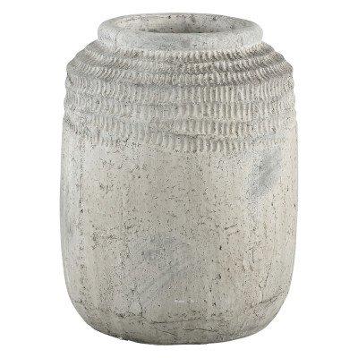 Ptmd cecilia grijs keramiek boeren pot motief hoog