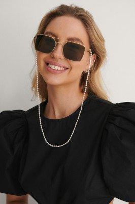 NA-KD Accessories NA-KD Accessories Pearl Sunglass Chain - White