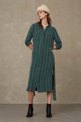 Kings of indigo Kings of Indigo - MAGGY dress Female - Green