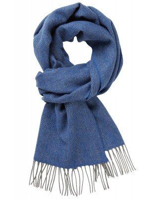 Profuomo Profuomo heren blauw wollen sjaal