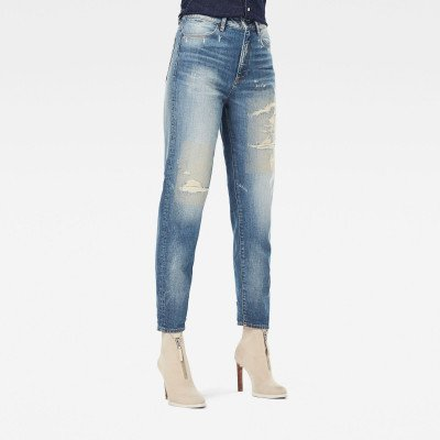 G-Star RAW Janeh Ultra High Mom Ankle Jeans - Lichtblauw - Dames