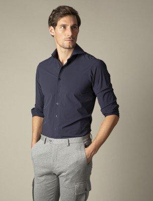 Cavallaro Napoli Cavallaro Napoli Heren Overhemd - Emelio Overhemd - Blauw