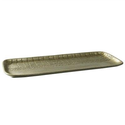 Firawonen.nl PTMD Chiva Champaign aluminium schaal rechthoek S