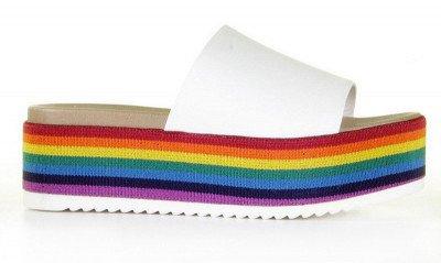 Steve Madden Steve Madden Abstract Wit/Multicolor Damesslippers