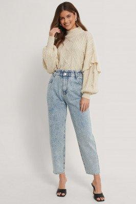 NA-KD NA-KD Paperwaist Jeans - Blue