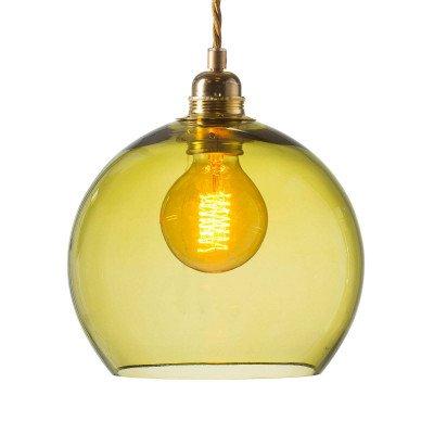 Ebb en Flow EBB & FLOW Rowan hanglamp goud/olijfgroen Ø 22cm