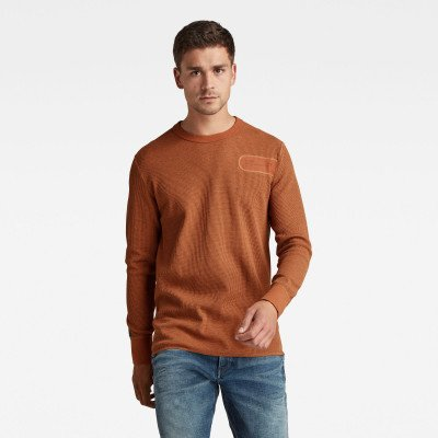G-Star RAW Heather Waffle Raw Construction T-Shirt - Oranje - Heren
