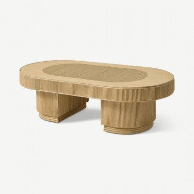 MADE.COM Azrou ovale salontafel, riet