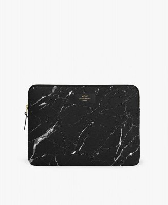 "Wouf Wouf Black Marble 13"" Laptop Sleeve"