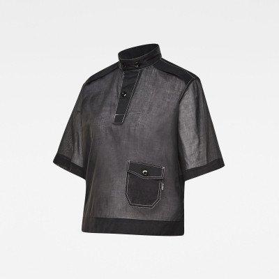 G-Star RAW E Swedish Collar Shirt - Zwart - Dames
