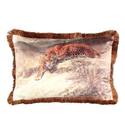 Firawonen.nl PTMD art print velvet kussen cheetah gouden