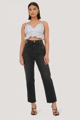 Trendyol Trendyol Jeans Met Hoge Taille - Black