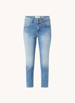 Marc O'Polo Marc O'Polo Theda high waist slim fit cropped jeans met stretch