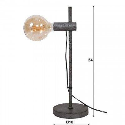LifestyleFurn Tafellamp 'Bel' kleur Oud Zilver
