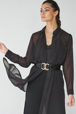 nu-in 100% Recycled Chiffon Longline Shirt