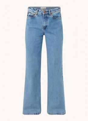 Samsøe & Samsøe Samsøe & Samsøe Riley high waist straight fit jeans met stretch