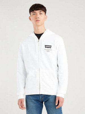 Levi's Graphic Fleece met rits - Wit / White