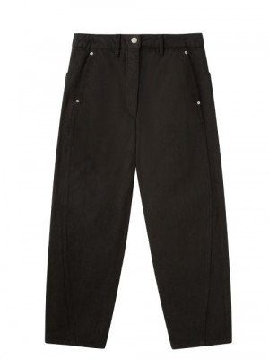 Matchesfashion Lemaire - Twisted-seam Cropped Wide-leg Jeans - Womens - Black