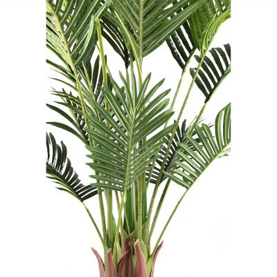 Firawonen.nl PTMD Tree Groene palmbladeren boom in zwarte pot S