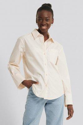NA-KD Reborn NA-KD Reborn Organisch Shirt - Offwhite