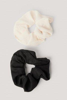 NA-KD Accessories NA-KD Accessories Scrunchies - Black,White