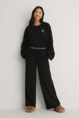 Calvin Klein Calvin Klein Broek Met Logo - Black