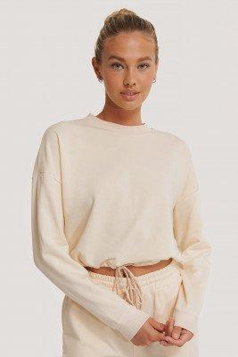 NA-KD Reborn Organisch Sweater Met Trekkoord - Beige
