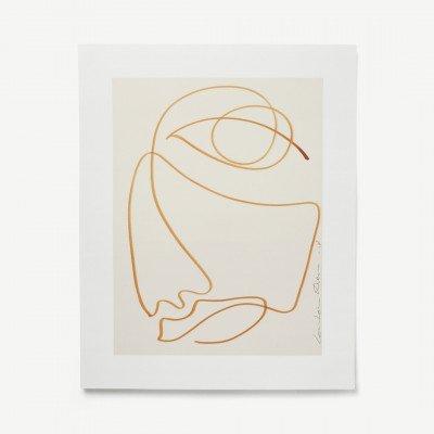MADE.COM Melancholic door LouLou Avenue, print, 40 x 50 cm